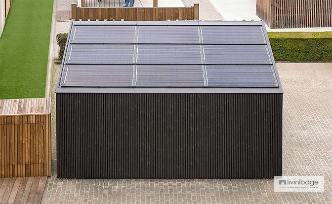 Carport met zonnepanelen