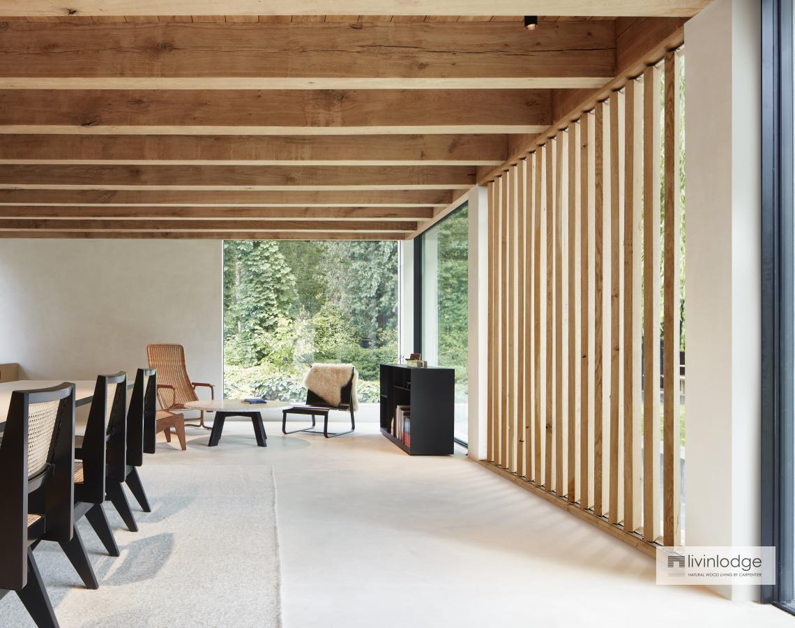 Houten raamshutters indoor
