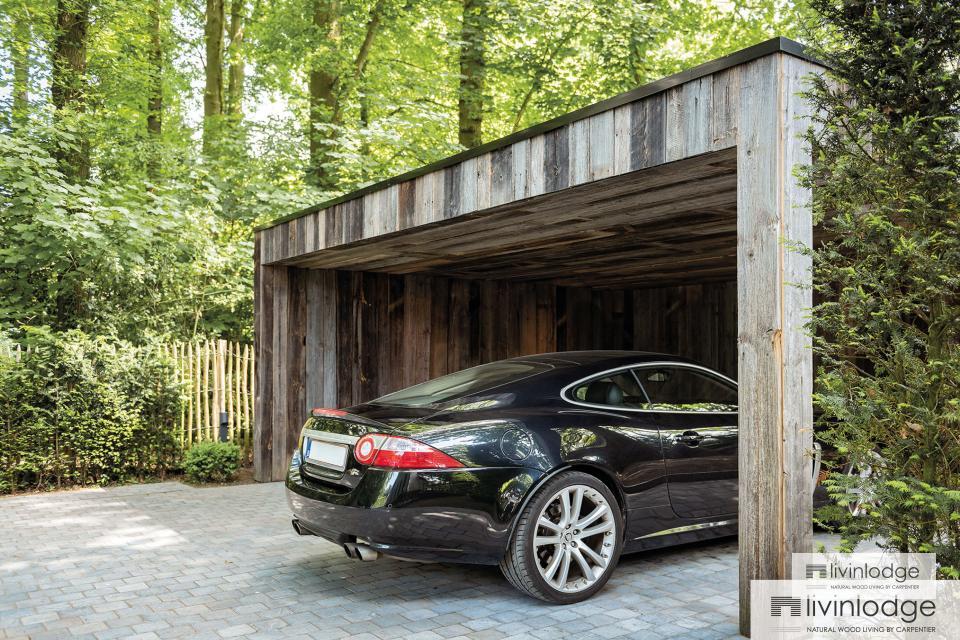 Houten carport - houten bijgebouwen op maat